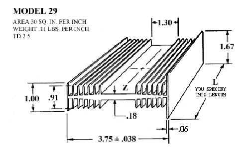 Heatsink 29 Accel Thermal Extruded Aluminum Heatsinks